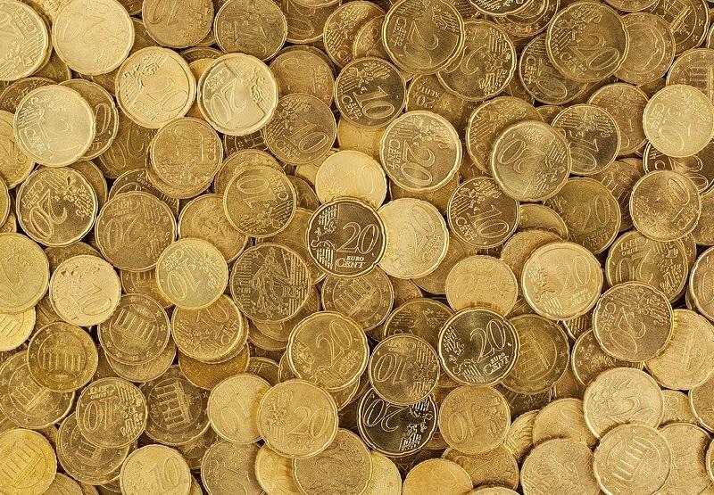 Viele Centstücke